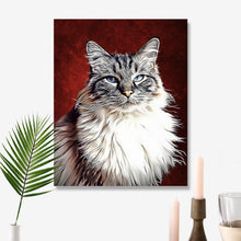 Load image into Gallery viewer, Custom Pet Portraits Oil Painting 11*14in - Slate
