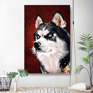 Custom Pet Portrait Oil Painting 20*30in - Plum