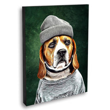 Load image into Gallery viewer, Custom Pet Portrait Oil Painting 20*30in - Olive