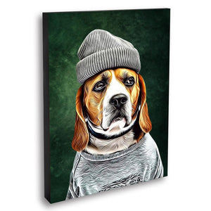 Custom Pet Portrait Oil Painting 20*30in - Olive