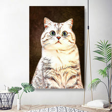 Load image into Gallery viewer, Custom Pet Portrait Oil Painting 20*30in - Mocha