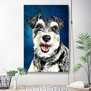 Custom Pet Portrait Oil Painting 20*30in - White