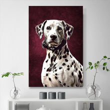 Load image into Gallery viewer, Custom Pet Portrait Painting 24*36in Dalmatian - Sangria