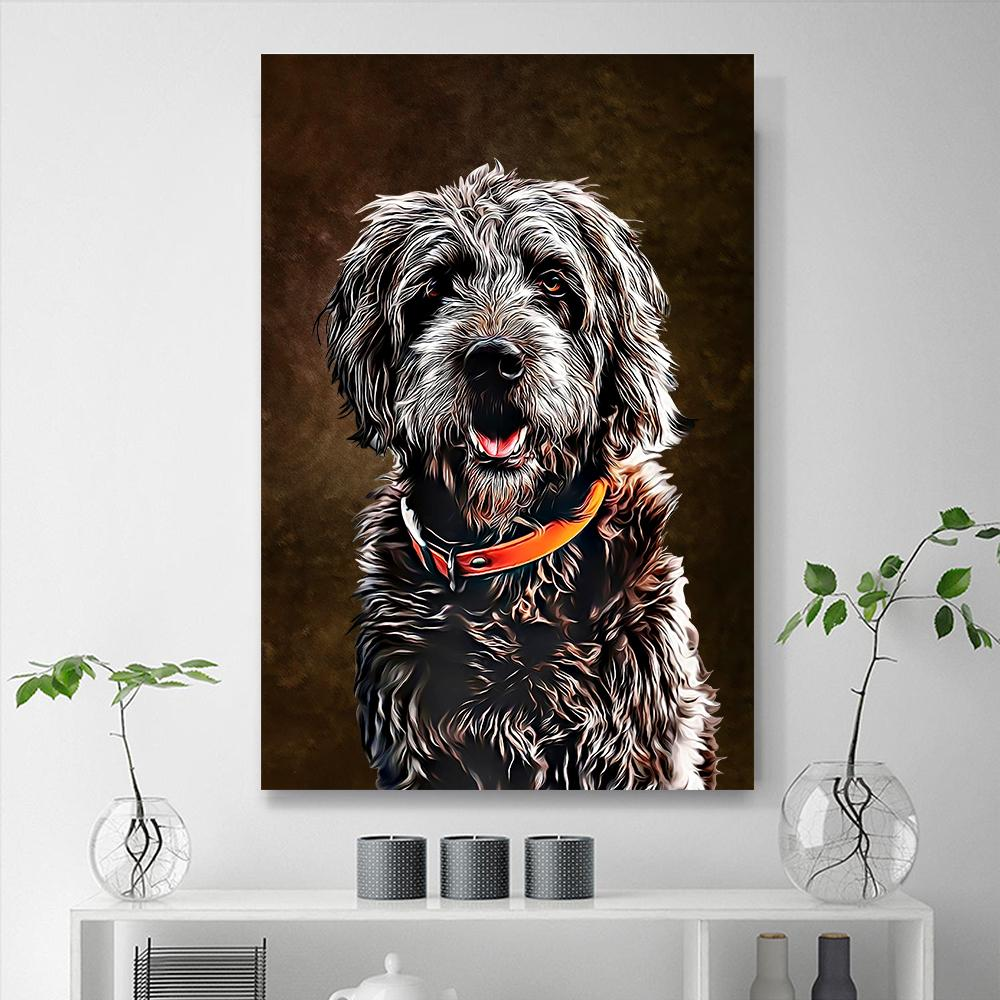 Custom Pet Portraits Painting 24*36in - Mocha