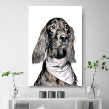 Load image into Gallery viewer, Custom Pet Portraits Painting 24*36in - Olive