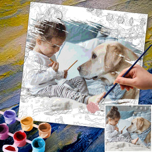 Custom Photo DIY Painting By Numbers Creative Gifts 24 Colors- 30*30cm