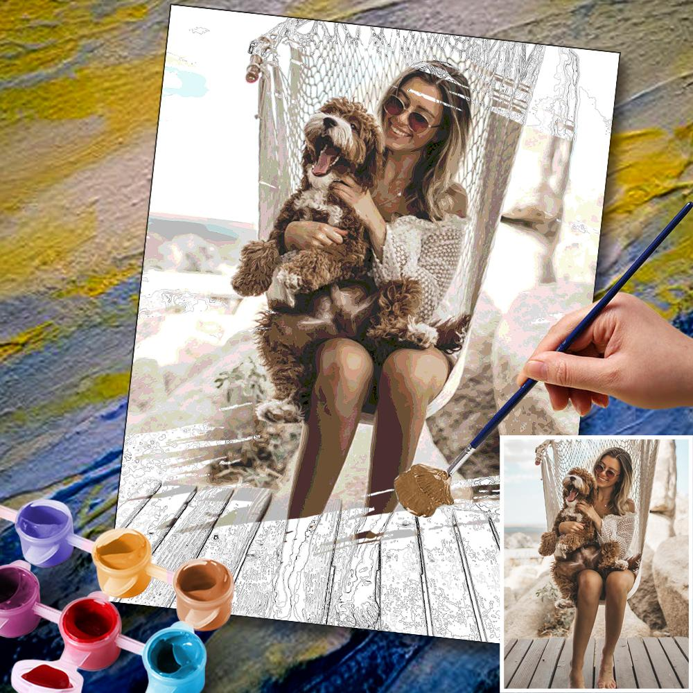 Custom Photo DIY Painting By Numbers 24 Colors - 30*40cm