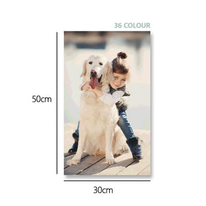 Custom Photo DIY Painting By Numbers 36 Colors - 30*50cm
