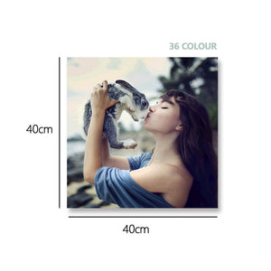 Custom Photo DIY Painting By Numbers 36 Colors - 40*40cm