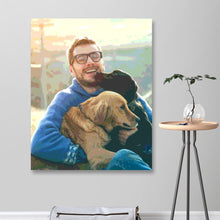 Load image into Gallery viewer, Custom Photo DIY Painting By Numbers Cute Dog 24 Colors - 40*50cm