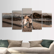 Load image into Gallery viewer, Gift for Mom Personalized Photo Painting 5pcs Contemporary Wall Art Home Decoration