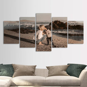 Gift for Mom Personalized Photo Painting 5pcs Contemporary Wall Art Home Decoration