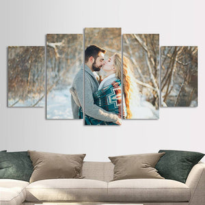 Custom Couple Photo Painting 5pcs Contemporary Family Unique Gifts
