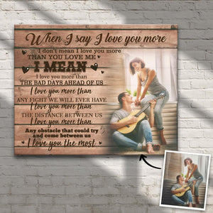 Custom Lover Photo Wall Decor Painting Canvas - For Couple