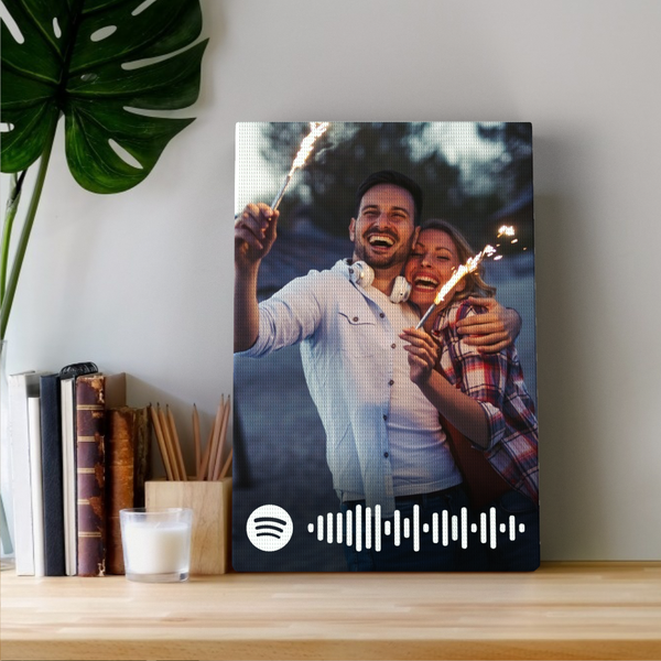 Spotify Code Custom Photo Canvas Print Valentine's Day Gift