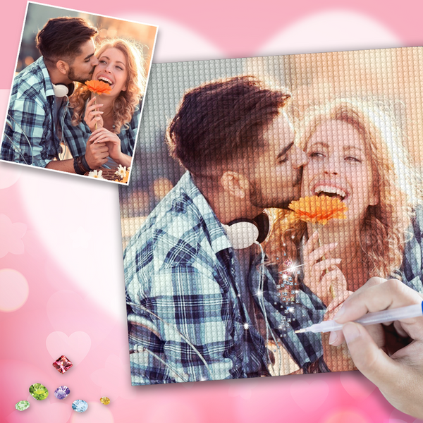 Custom Photo DIY Diamond Painting Valentine's Day Gift for Her