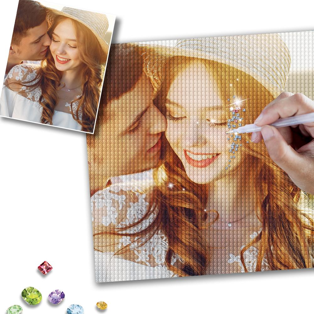 DIY Custom Love Couple Photo Diamond Painting