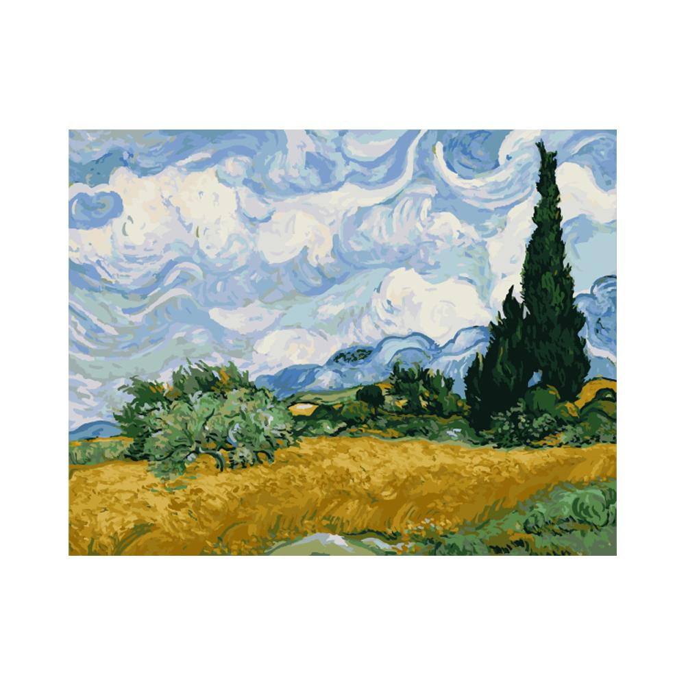 Van-Gogh Sky - DIY Paint by Numbers Kit - 16