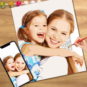 Christmas Gift DIY Paint by Numbers Custom Photo Painting