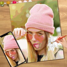 Load image into Gallery viewer, Christmas Gift DIY Paint by Numbers Custom Photo Painting
