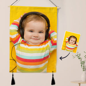 Custom Photo Tapestry - Baby Wall Decor Hanger Frame Poster