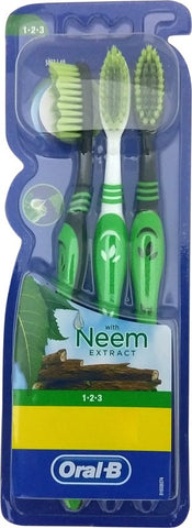 Oral-B with Neem Extract Soft Toothbrush(3 Toothbrushes)
