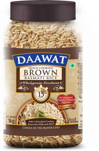 Daawat Brown Basmati Rice (Medium Grain)(1 kg)
