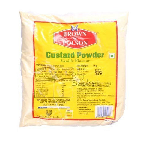 Brown & Polson Custard Powder - Vanilla Flavor, 1 kg Pouch