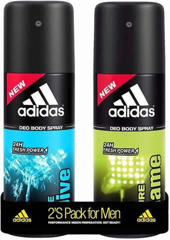 ADIDAS Pure Game & Ice Dive Deodorant Spray  -  For Men(300 ml, Pack of 2)