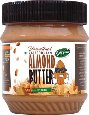Happilo Natural Unsweetened Californian Almond Butter 200 g