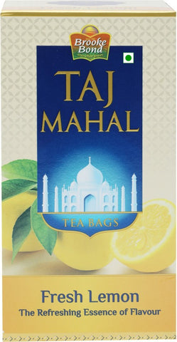 Taj Mahal Fresh Lemon Tea Bags Box(25 Bags)