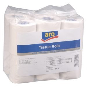 Aro Tissues Toilet Roll, 4Packs, 3 Ply