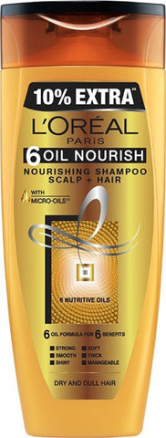 L'Oreal 6 Oil Nourish Shampoo Men & Women(360 ml)