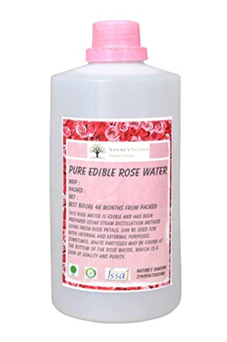 Nature's Shadow - Pure Edible Rose Water for Internal, External and Cooking Purposes (Concentrated, 500 ML)