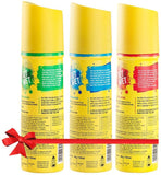 Set Wet Cool, Charm and Mischief Avatar Deodorant Spray  -  For Men(450 ml, Pack of 3)