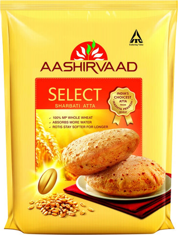 Aashirvaad Select Sharbati Whole Wheat Atta(5 kg)