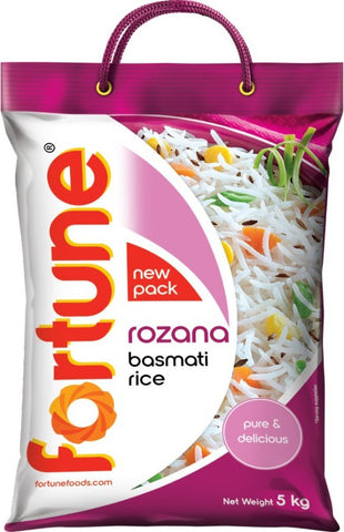 Fortune Rozana Basmati Rice (Medium Grain)(5 kg)