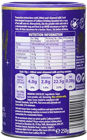 Cadbury Hot Chocolate Cocoa Powder (Imported), 250g