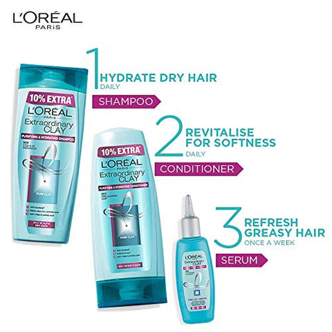 L'Oreal Paris Extraordinary Clay  Shampoo, 175ml (With 10% Extra)