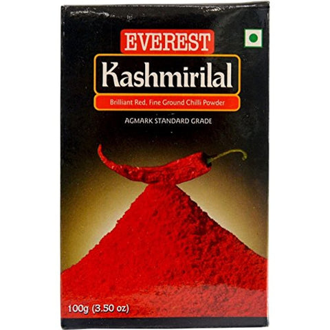 Everest Powder, Kashmirilal Briliant Red Chili Powder, 100g Carton