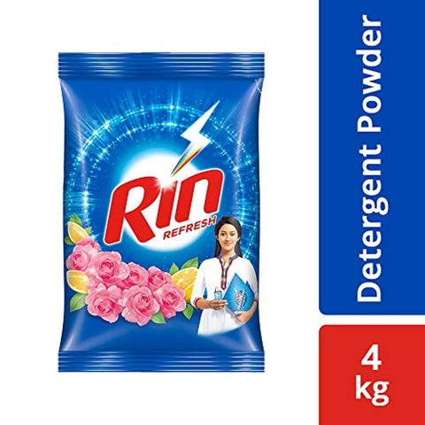 Rin Refresh Lemon and Rose Detergent Powder - 4 kg