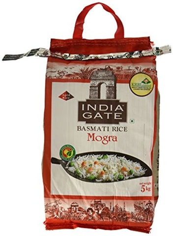 India Gate Basmati Rice Bag, Mogra, 5kg (Broken rice)