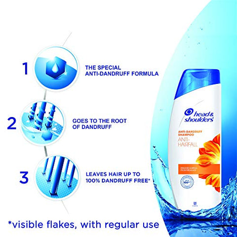 Head & Shoulders , Anti Dandruff Shampoo, Anti Hairfall, 180 ML