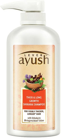 Lever Ayush Thick and Long Growth Shikakai Shampoo Men & Women(600 ml)