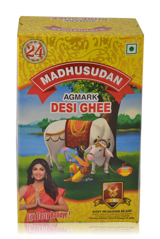 Madhusudan Desi Ghee Milk Fat, 1L Pack