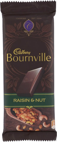 Cadbury Bournville Raisin & Nuts Dark Chocolate Bars(80 g)