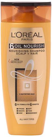 L'Oreal Paris 6 Oil Nourish Shampoo Scalp and Hair, 175ml