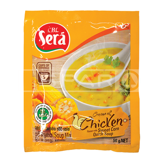 SERA Cream of Chicken Sweet Corn Quick Soup, 50g