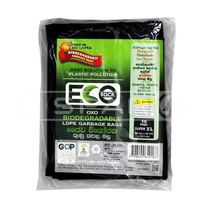 ECO SACK Extra Large Black Garbage Bags, 30*36