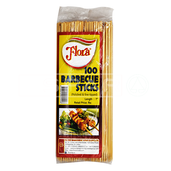 FLORA Barbeque Sticks 7in 100's